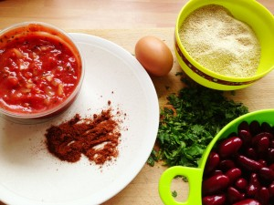 bean burger ingredients