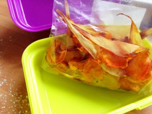 vegetables crisps in a bag