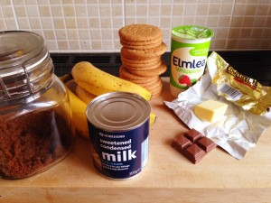 ingredients for banoffee pie