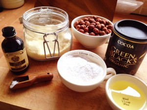 ingredients for making your own chocolate spread