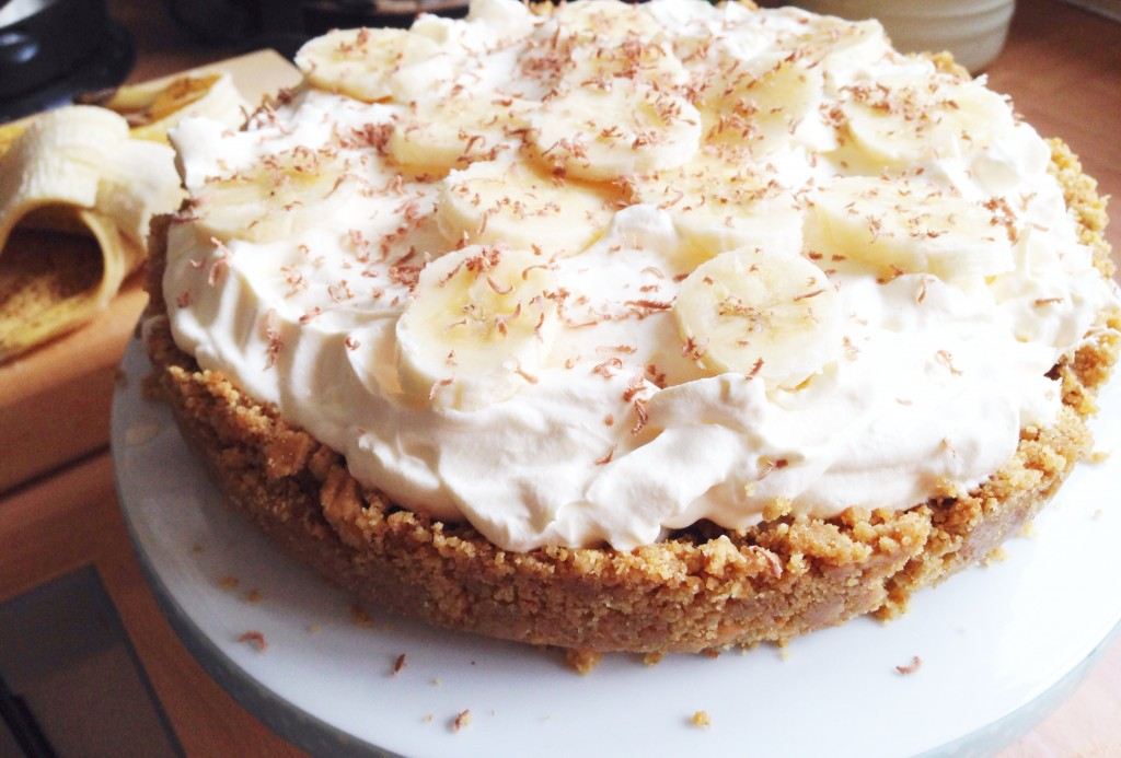 finished banoffee pie