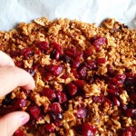 Mix in the dried fruit after baking