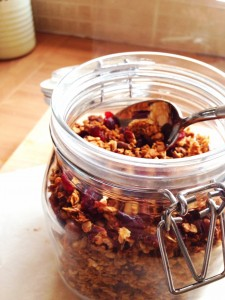 Yummy Granola--Kids can make their own breakfast cereal