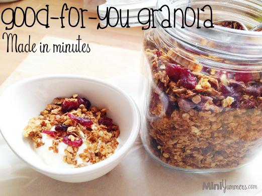 Granola is an easy and healthy make for your kids