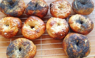 Bagels are fun for kids to make