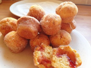 Delicious Duffins--a cross between a doughnut and a muffin