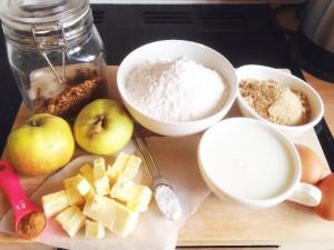 Granola muffin ingredients