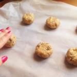 Flatten the dough a little