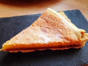 Finished Bakewell tart--easy to make, even easier to eat!