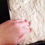 Press right down into the dough