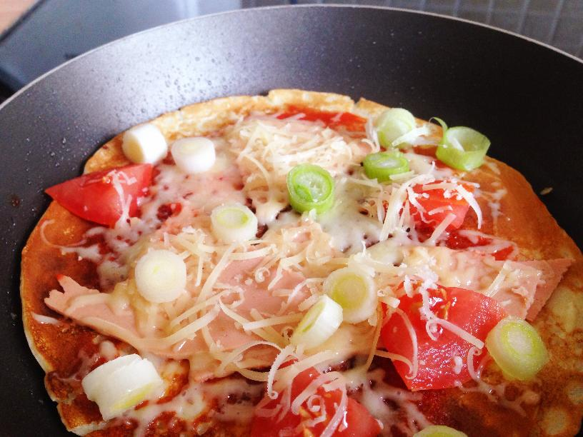 different, why not try a savoury pancake. This pancake pizza ...