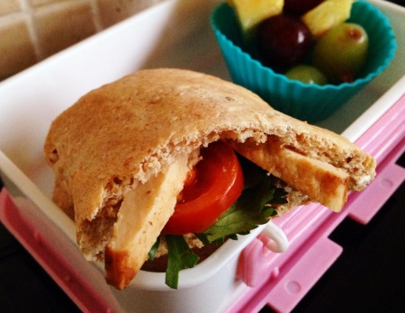 wholemeal pita--healthy and easy for kids to make