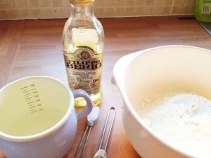 Simple ingredients to make tortillas