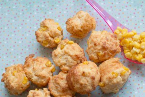 sweetcorn muffins and spoon